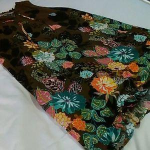 Loft Coral springs swing dress